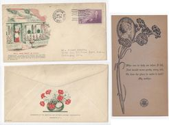 Sc 737 FDC 1934 American War Mothers Day Cover W Poem Card Mellone 737-1 Planty 1 - First Day Covers (FDCs)