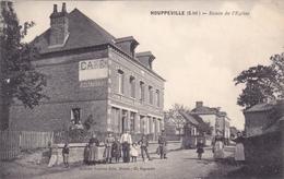 CPA 76 @ HOUPPEVILLE @ Route De L'Eglise - Café Restaurant De La Mairie Mauger Vers 1910 - France