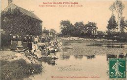 - Calvados -ref-F635 - A Situer - Laveuses - Laveuses - Metiers - Scenes Normandes - La Normadie Pittorresque - - France
