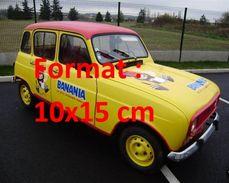 Reproduction D'une Photographie D'une Renault 4L Publicitaire Banania - Reproductions
