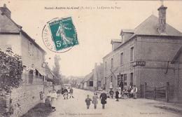 CPA 76 @  SAINT AUBIN LE CAUF En 1910 Le Centre Du Pays - Café Veuve Lecuyer - France