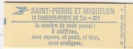 ST PIERRE ET MIQUELON N° 464a CARNET NEUF FERMÉ  7622 - Libretti
