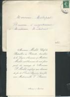 Mettray  - F. P. MARIAGE De M  P. Morlet Avec Mll V. BARROIS LE 1/04/1908   Aw13306 - Wedding