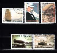Sao Tome En Principe 1988 Mi Nr 1056 - 1060  Ferdinand Graf Von Zeppelin, - Sao Tome And Principe