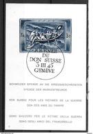 """SUISSE 1945 BLOC FEUILLET BF N° 11 OBLITÉRÉ BIEN REGARDER LE SCAN DU VERSO OU APPARAÎT """"TACHE DE ROUILLE"""" - Blokken"""