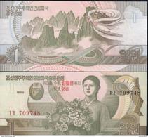 North Korea 1 Won 1992 UNC - Korea, Noord