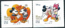 Italia, Italy, Italien, Italie 2017; Minnie And Mickey Mouse. Disney, 90° Di Topolino In Italia. Nuovi. - Disney
