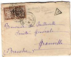 TAxE N° 29 En Paire Sur Lettre  Annulation Par Cachets IMPRIMES JOURNAUX 1907 Peu Courant - Postage Due Covers