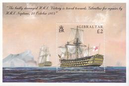 2005 Gibraltar  Battle Of Trafalgar Sailing Ships Nelson Navy Souvenir Sheet  MNH - Gibraltar