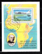 Sao Tome En Principe 1979 Mi Nr Blok 35 Sir Rowland Hill, Airplane DC-3 Dakota - Sao Tome And Principe