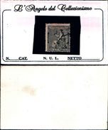 86475) ALEGORIA DE ESPAÑA Nº 134 - AÑO 1873-40c.-nero - PRECIO CATALOGO: 49 €UROS - 1870-72 Reggenza