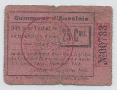 Auvelais,25 Cent.,NOT Reported In Catalogue !! - [ 3] Occupations Allemandes De La Belgique