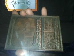 Plaque D'imprimerie - Assurance Vie - Pompe Funebre  - - Vieux Papiers