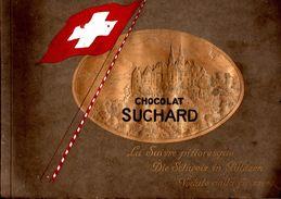Complet: Album De 216 Vignettes - Chocolat SUCHARD - La Suisse Pittoresque - Vers 1900 /  Cartes 10.5X6 / Album 32X24 - Suchard