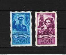 1951 - Journee Des Mineurs Michel No 1272/1273 Et Yv No 1162/1163 MNH - Ungebraucht