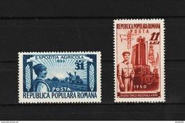1951 - Expo Des Tehniques Industrialle Mi No 1252A/1253A Et Yv No 1140/1141 MNH - Ungebraucht