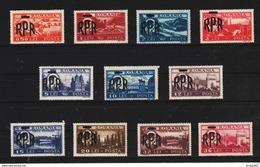 1948 - Activites Nationaleavec Surcharges Mi No 1106/1116 Et Yv No 1010/1020 MNH - Ungebraucht