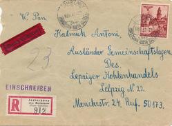 GENERALGOUVERNEMENT - JEZIERZANY über Borszczow / Galizien -  1942 ,  Express R-Brief Nach Leipzig - Besetzungen 1938-45