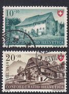 SVIZZERA - 1949 - Lotto 2 Valori Usati Yvert  478 E 479. Festa Nazionale. - Usati