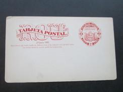 Uruguay Ganzsache / Doppelkarte 2a Serie 1880. Tarjeta Postal. Respuesta. Ungebraucht / Leicht Verschnitten! - Uruguay