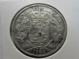Belgium Leopold II 5 Frank 1865 - 09. 5 Francs