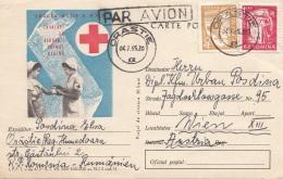 RUMÄNIEN 1965 - Rotes Kreuz Bildpostkarte 2 Fach Frankiert, Gel.v.Orastie N.Wien - Ganzsachen