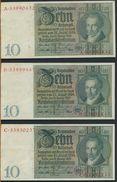 °°° GERMANY - (8) 10 REICHSMARK 1929 SERIE A-B-C-D-E-F-X-Z. °°° - [ 3] 1918-1933 : Weimar Republic