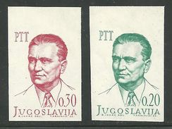 1966 Yugoslavia President Josip Broz Tito, Communust, IMPERFORATE SET, Ungezähnt, NON DENTELLATO - Non Dentelés, épreuves & Variétés