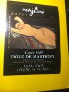 5674 -  Nu Couché Les Bras Derrière La Tête Exposition Modigliani 1990 Dôle De Martigny 1989 - Art