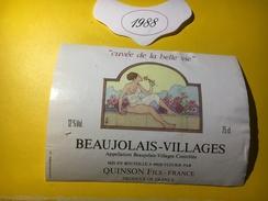 5675 -  Beaujolais Village 1988 Cuvée De La Belle Vie Quinson Fils - Beaujolais