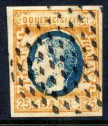ROMANIA 1869 Prince Carol 25 B. Orange/blue  Used.   Michel 24 - 1858-1880 Moldavia & Principality