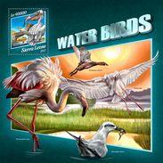 SIERRA LEONE 2017 - Water Birds, Pelicans S/S. Official Issue. - Pelikanen