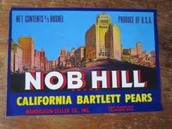 Nob Hill Brand. California Bartlett Pears. Mendelson Zeller Co., Inc. 26 X 18 Cm. - Farm