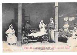 EXPOSITION DE NANCY 1909 -PAVILLON DE LA CROIX ROUGE Intérieur De L'Hopital De Campagne -Soldat Marocain Médaillé - Croix-Rouge