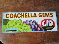 Coachella Gems Brand. CID Coachella Imperial Distributors. California. 30,5 X 11,5 Cm. - Agriculture