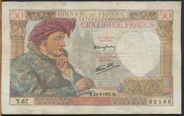 °°° FRANCE - 50 FRANCS 24/4/1941 °°° - 1871-1952 Anciens Francs Circulés Au XXème
