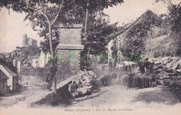 12 : NAJAC ,, Rue Du Marché Et Chateau , Troupeau De Moutons - Najac