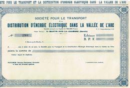 Titre Uncirculed - Société Pour Le Transport Et La Distribution Electrique Dans La Vallée De L'Arc - Afrique