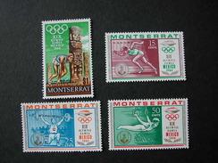 MONTSERRAT 1968 - OLYMPICS MEXICO 68 - YVERT Nº 199-202** - Summer 1968: Mexico City