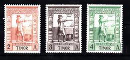 Timor 19385 Mi Nr 232 - 234 ; Vasco Da Gama - Osttimor
