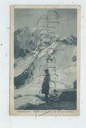 Courmayeur (Italie, Val D'Aosta) :Le Refuge Torino  En 1924 (animé) PF. - Italia