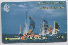 ANTIGUA & BARBUDA - ANTIGUA SAILING WEEK - 13CATB - DIFFERENT BACK SIDE - Antigua And Barbuda