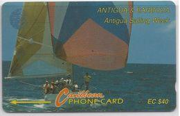 ANTIGUA & BARBUDA - ANTIGUA SAILING WEEK - 13CATC - DIFFERENT BACK SIDE - Antigua E Barbuda