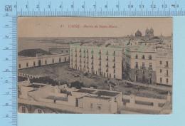 Cadiz Espana - Barrio De Santa Maria, Cover Granada 1926 On 15 Cs - Post Card Carte Postale - Cádiz