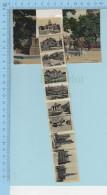 Bonjour De Bruxelles - 10 Mini Photo, Sous La Languette - Post Card Carte Postale à Systemes - A Systèmes