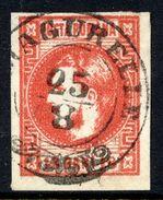 ROMANIA 1868 Prince Carol 18 B. Red,  Used.   Michel 20 - 1858-1880 Moldavia & Principality