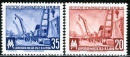 DDR - Michel 518 / 519 - ** Postfrisch (A) - 20-35Pf  Leipziger Frühjahrsmesse 56 - [6] Oost-Duitsland