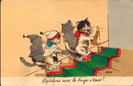 Illustrateur, Bouret Germaine, Depechons Nous La Bougie S Eteint     (bon Etat) - Bouret, Germaine