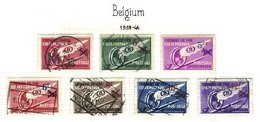 BELGIUM, Railway Parcels, Yv 202/04, 210, 291/93, Used, F/VF - Railway
