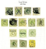 GREAT BRITAIN, Railway Letter Stamps, Used, Ave/F - Local Issues